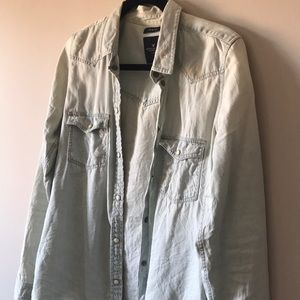 American Eagle Light-wash Thin Jacket/Pull-over